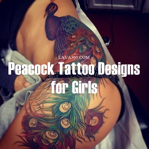 Peacock tattoo designs for Girls1
