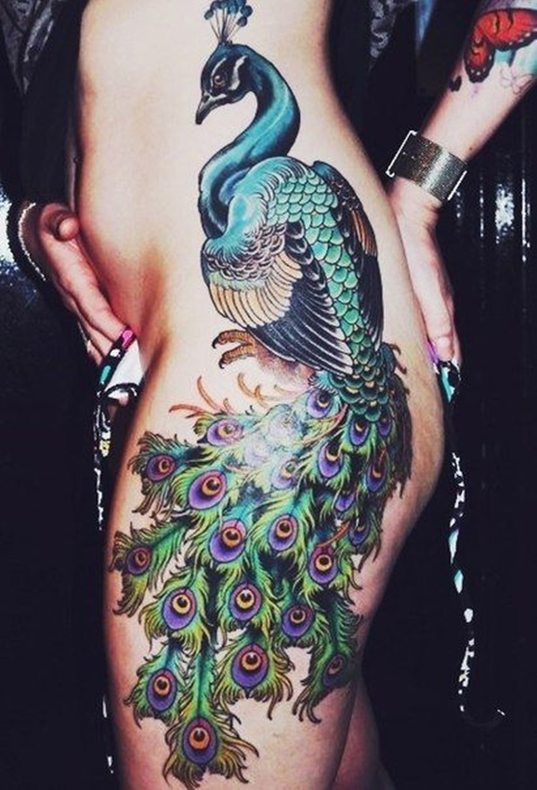Peacock tattoo designs for Girls10