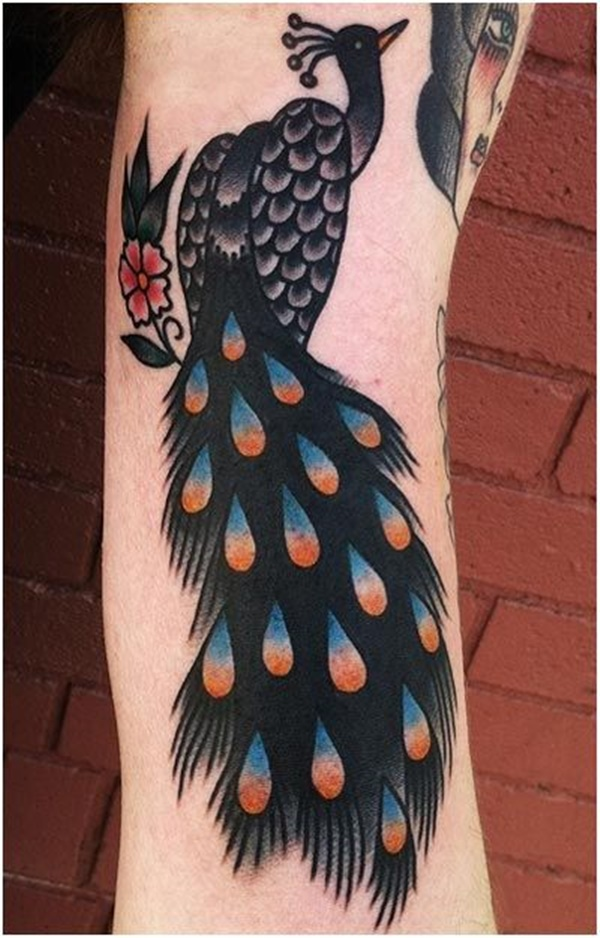 Peacock tattoo designs for Girls11