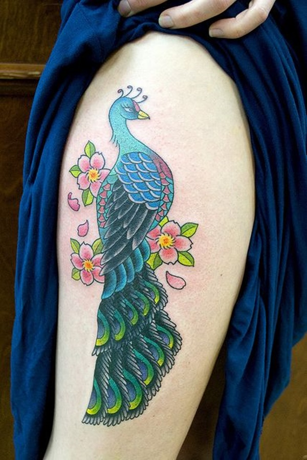 Peacock tattoo designs for Girls14