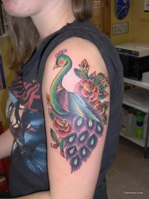 Peacock tattoo designs for Girls16