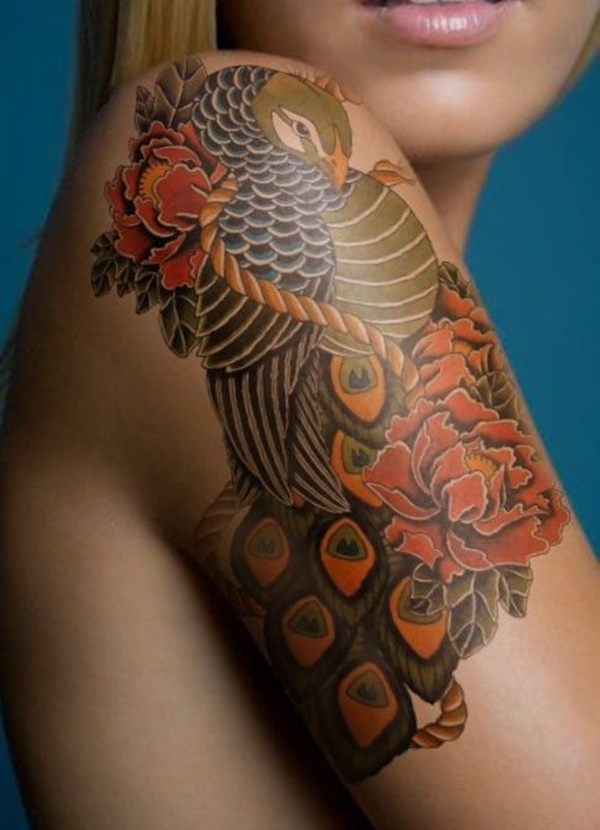 Peacock tattoo designs for Girls18