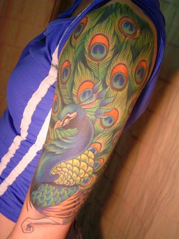 Peacock tattoo designs for Girls3