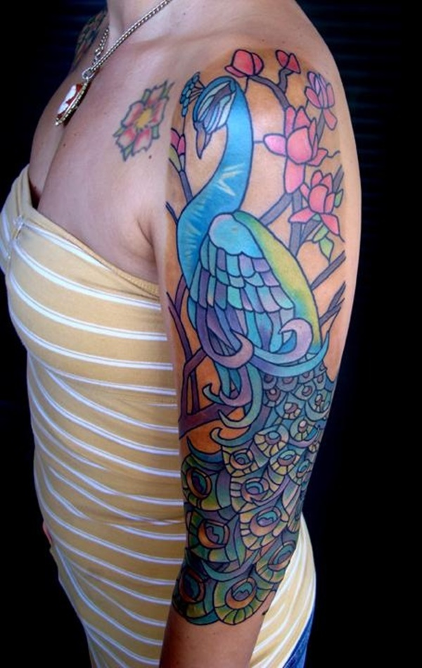 Peacock tattoo designs for Girls33