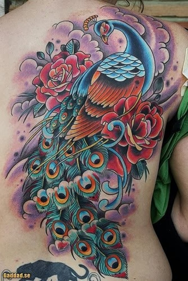 Peacock tattoo designs for Girls34
