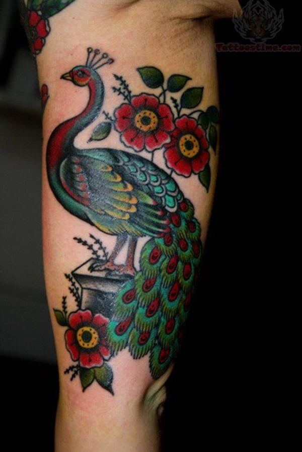 Peacock tattoo designs for Girls36