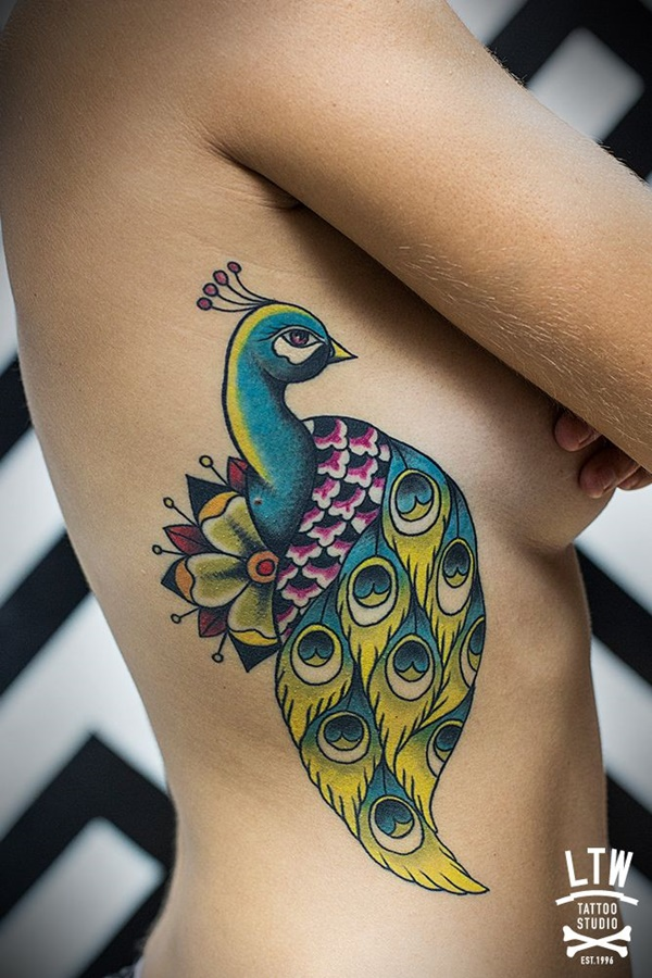 Peacock tattoo designs for Girls4