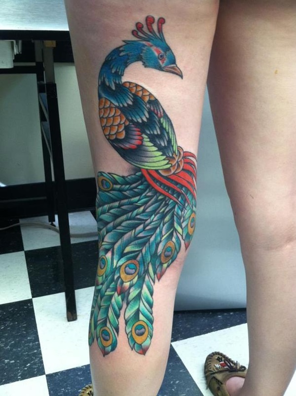 Peacock tattoo designs for Girls8