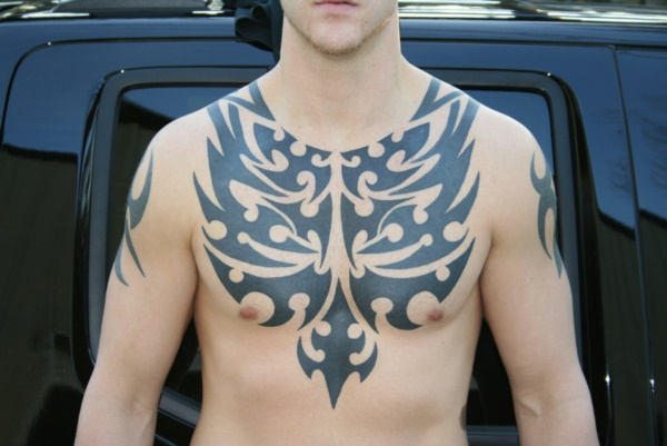 Catchy Chest Tattoo Designs for Men and Women (14)