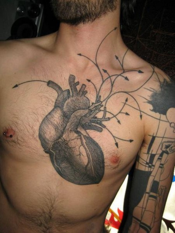 Catchy Chest Tattoo Designs for Men and Women (26)