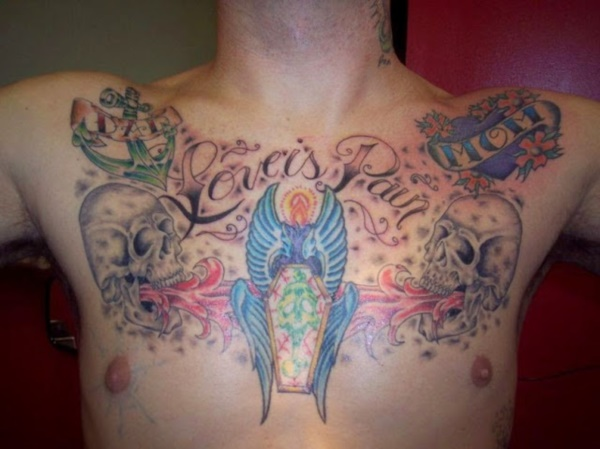 Catchy Chest Tattoo Designs for Men and Women (31)