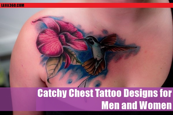 Catchy Chest Tattoo Designs for Men and Women (48)