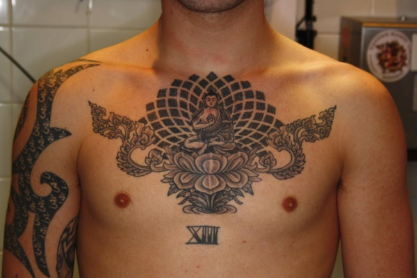Catchy Chest Tattoo Designs for Men and Women (5)