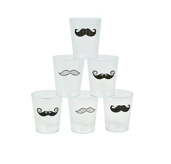 Mustache Party Shot Glass Pack