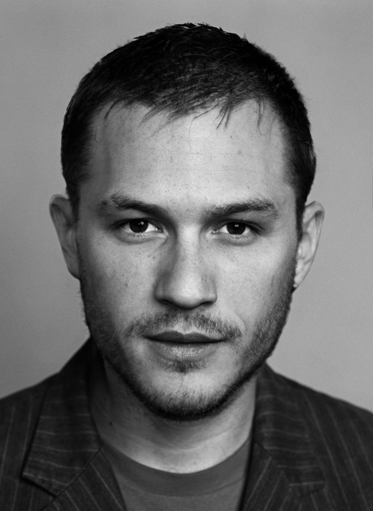 Heath Ledger and Tom Hardy