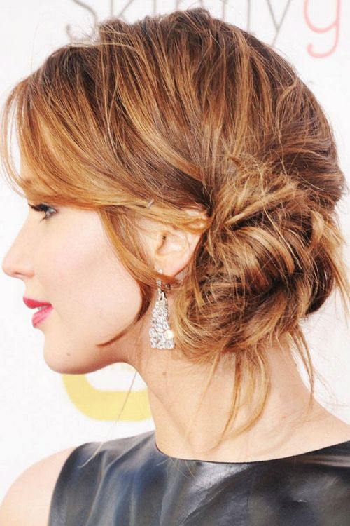 bun hair style for girl low-side-bun