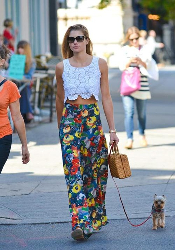 Jessica Hart walks her dog in New York