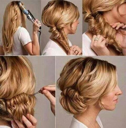 messy fishtale bun hairstyle