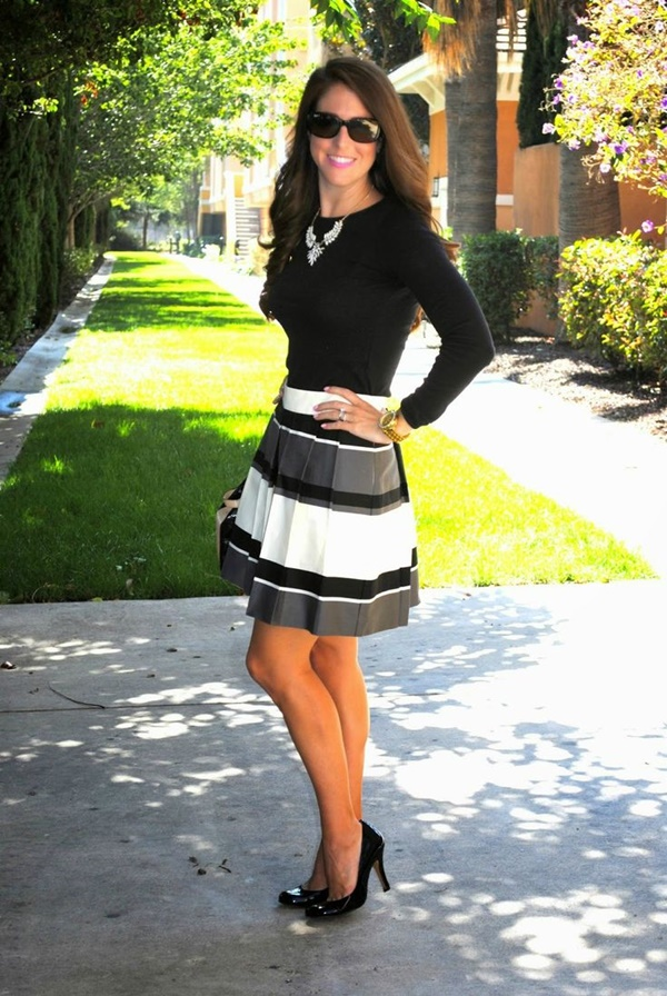 striped skirt outfits (1)