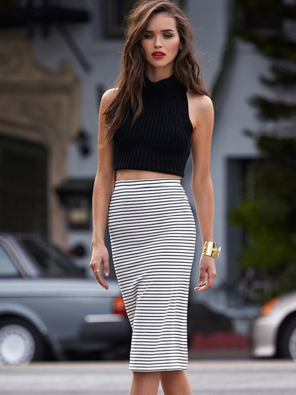 striped skirt outfits (10)