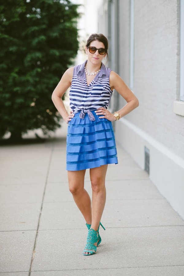 striped skirt outfits (12)