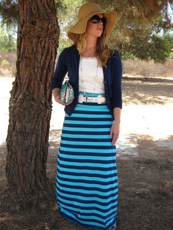 striped skirt outfits (13)