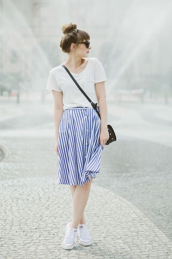 striped skirt outfits (15)