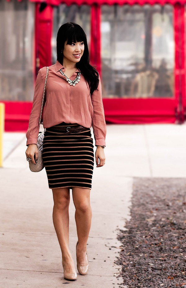 striped skirt outfits (16)