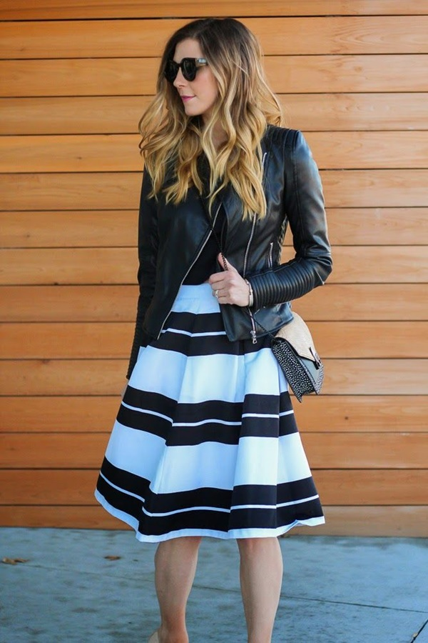 striped skirt outfits (18)