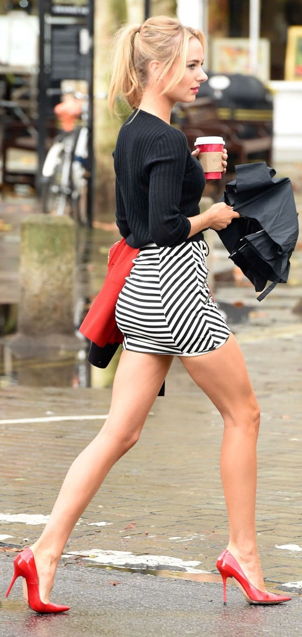 striped skirt outfits (19)