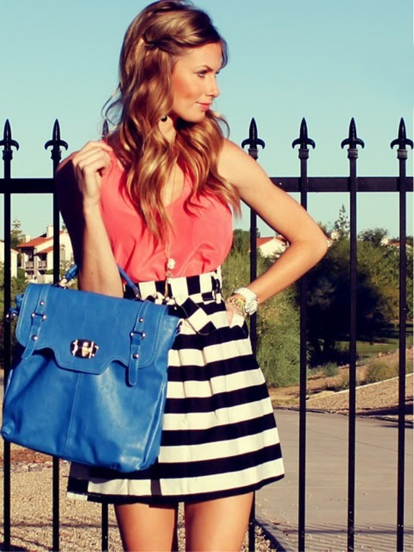 striped skirt outfits (2)