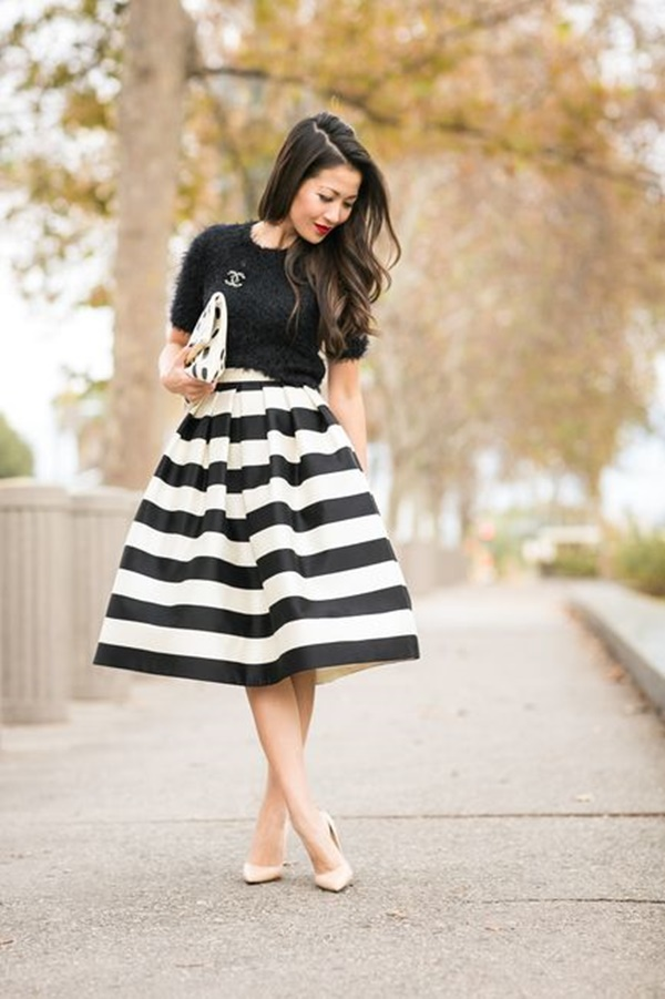 striped skirt outfits (20)