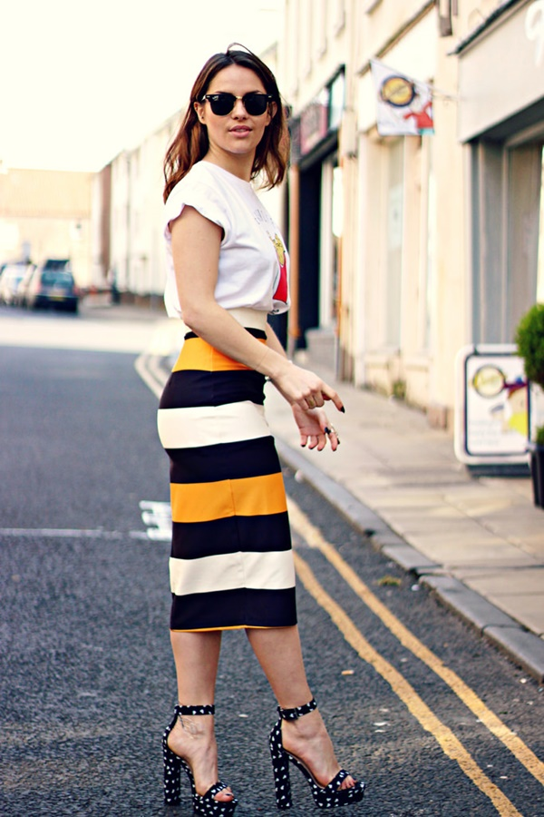 striped skirt outfits (22)