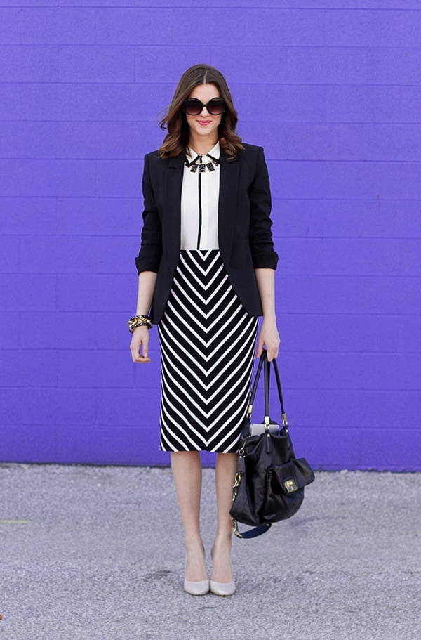 striped skirt outfits (23)