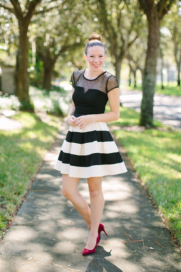striped skirt outfits (24)