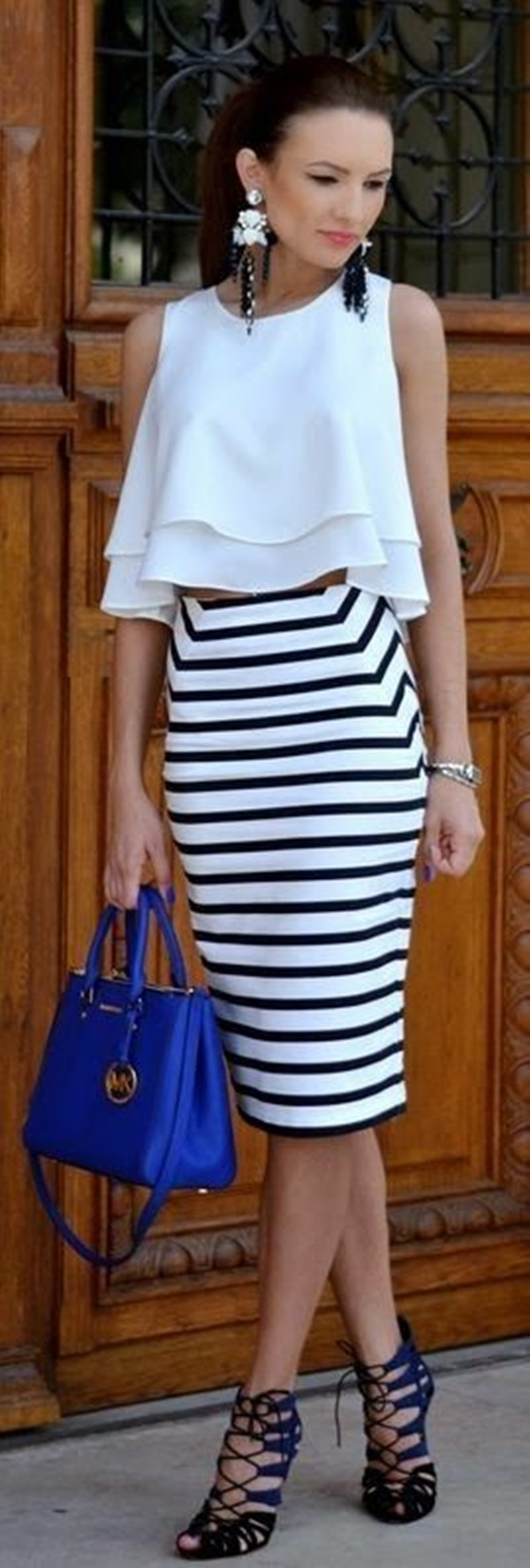 striped skirt outfits (26)