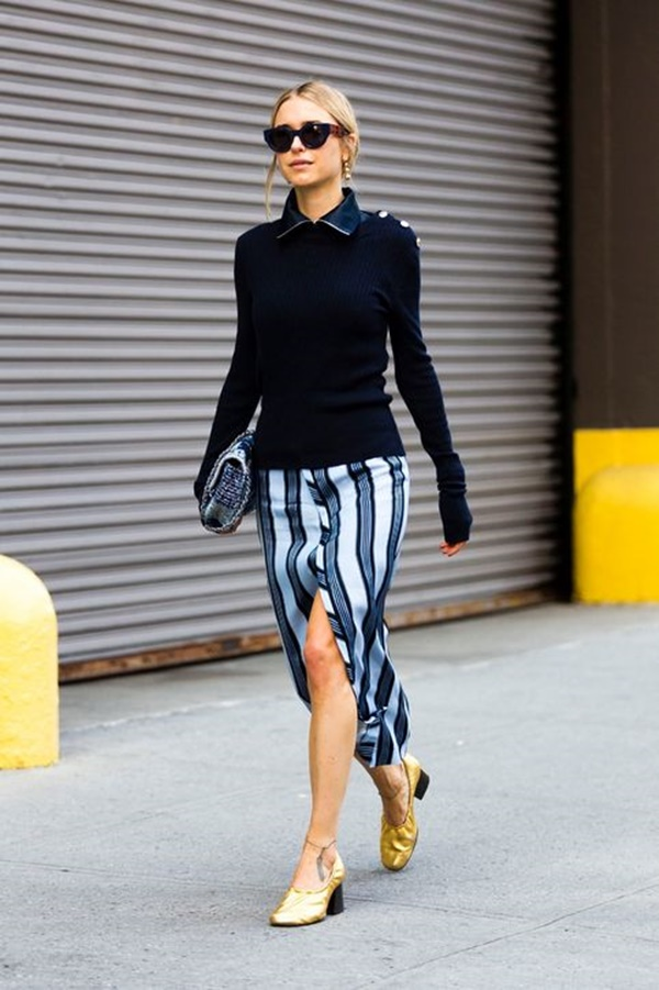 striped skirt outfits (27)
