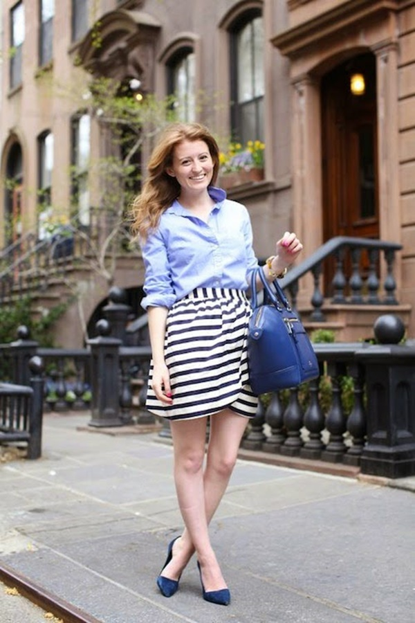 striped skirt outfits (29)