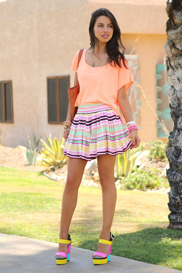 striped skirt outfits (3)