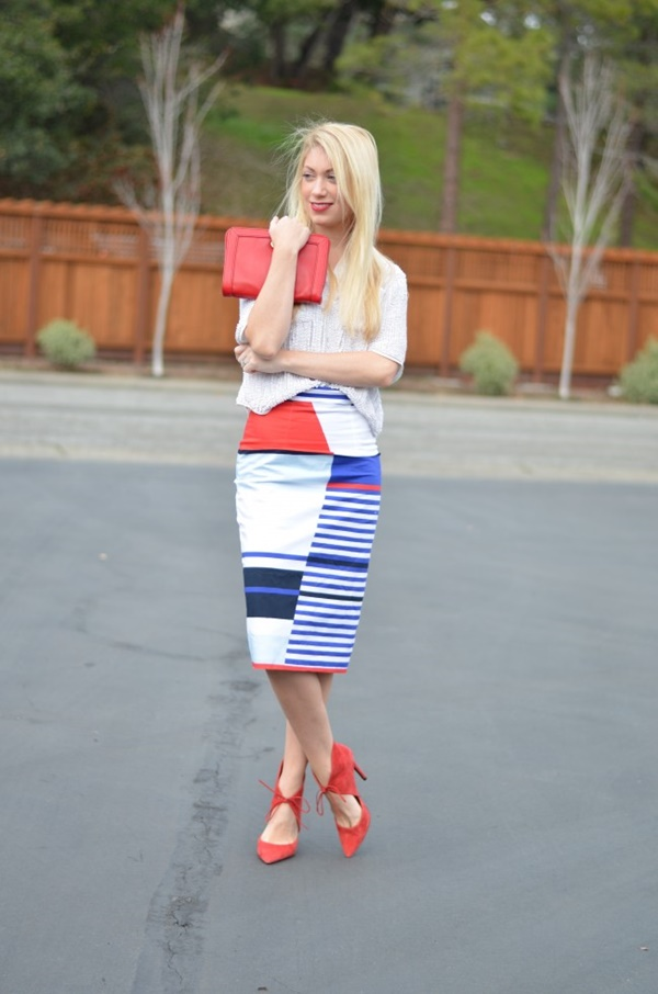 striped skirt outfits (30)