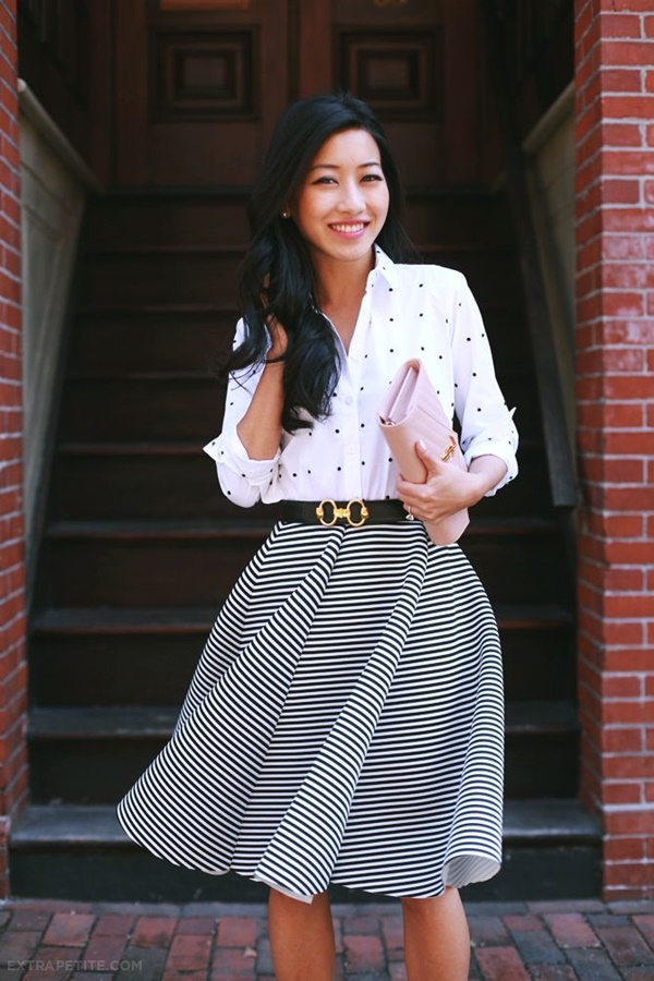striped skirt outfits (32)
