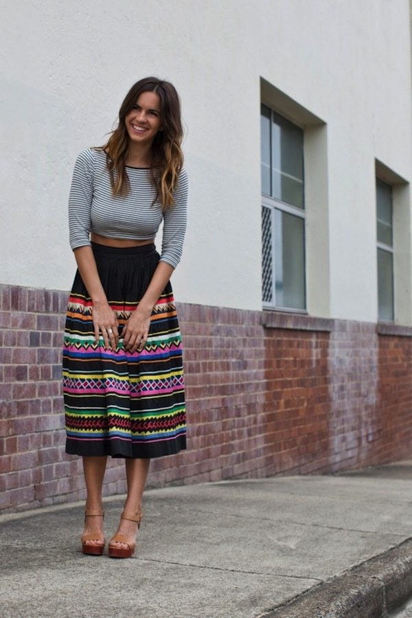 striped skirt outfits (35)