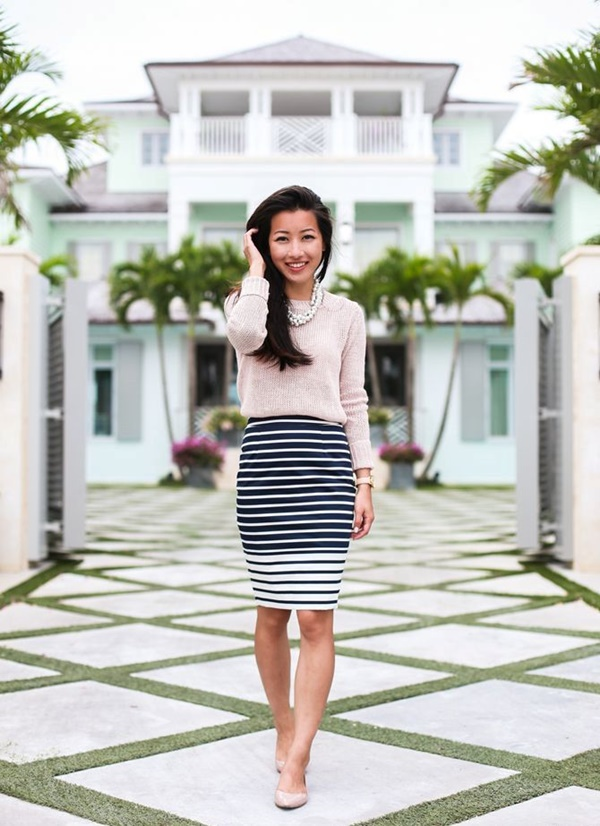 striped skirt outfits (4)