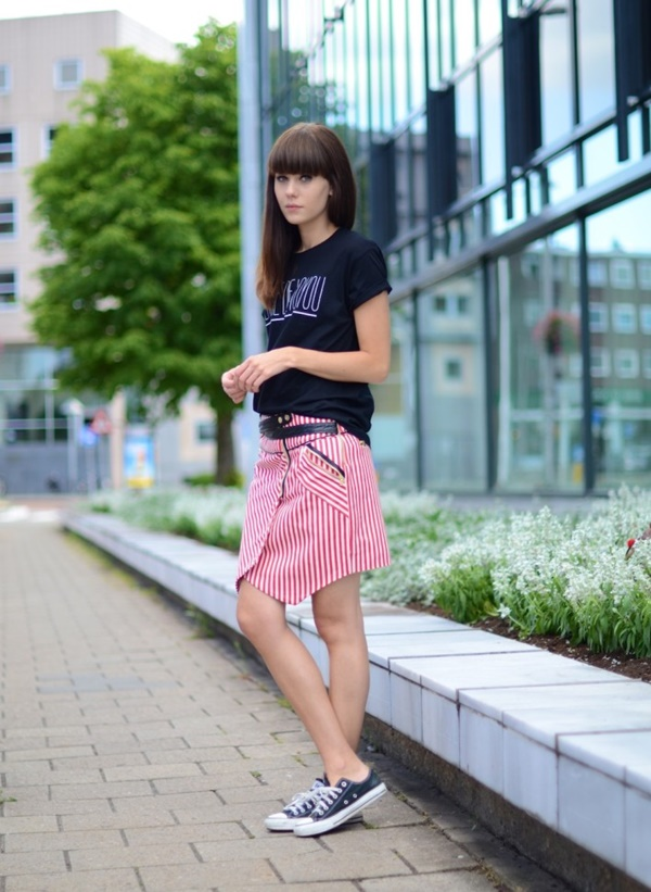 striped skirt outfits (40)