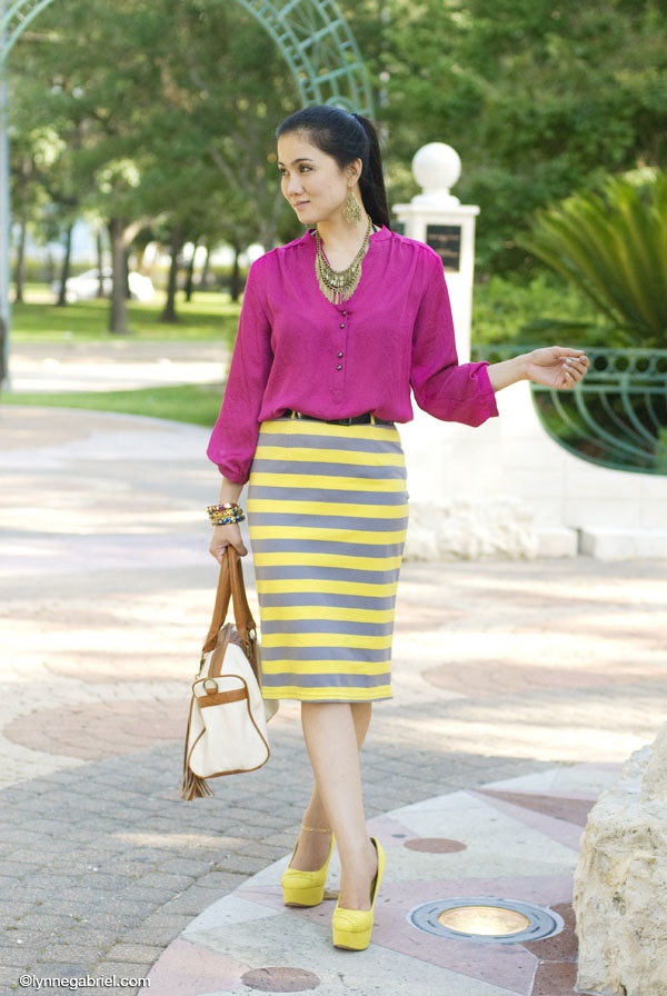 striped skirt outfits (42)