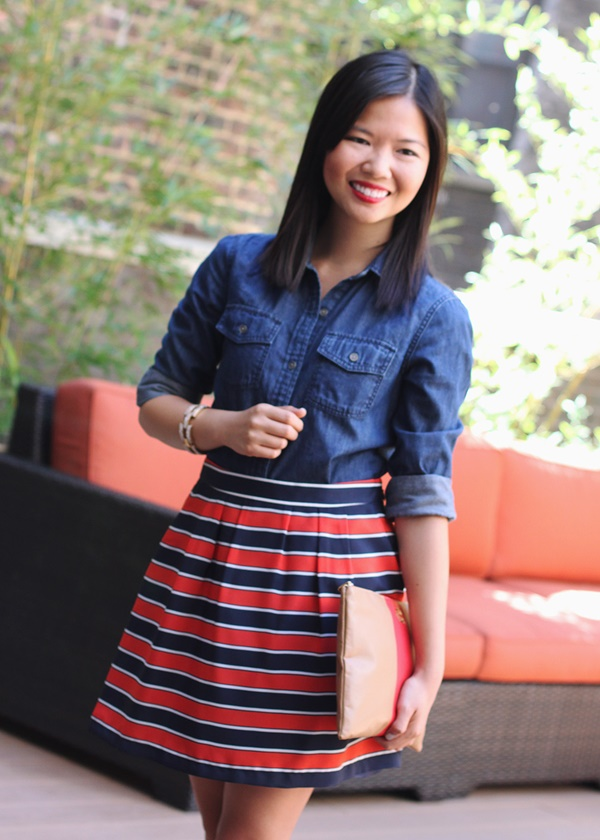 striped skirt outfits (43)