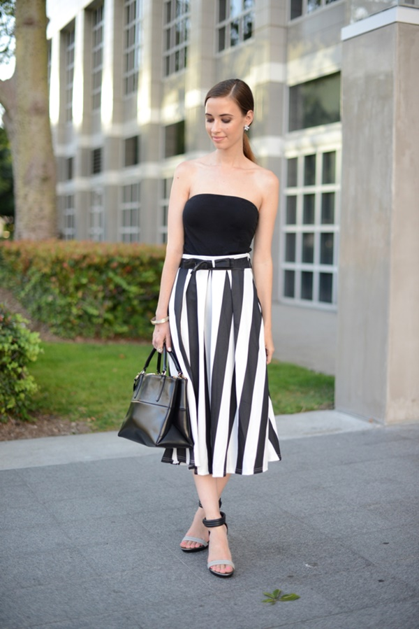 striped skirt outfits (45)