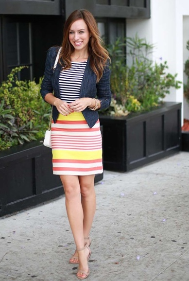 striped skirt outfits (7)