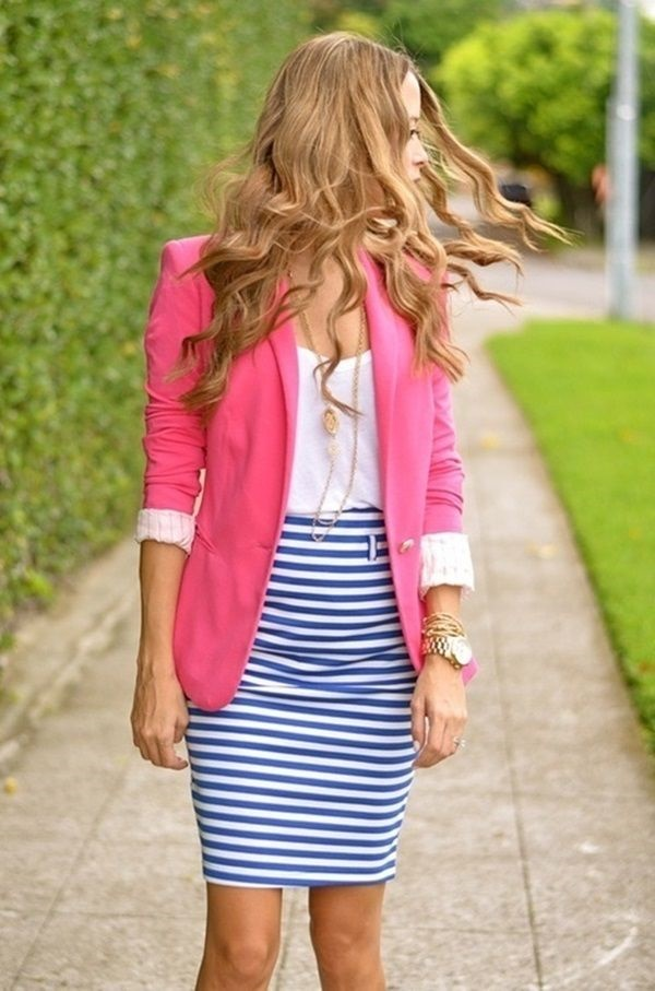 striped skirt outfits (8)