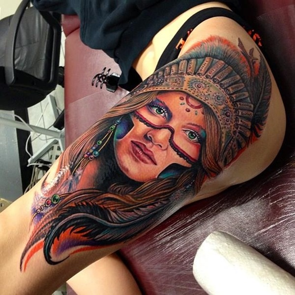 female leg tattoos ideas (26)